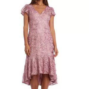 R & M Richards High-Low Flounce Midi Dress